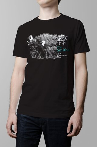 Remera The Smiths this charming man negra hombre