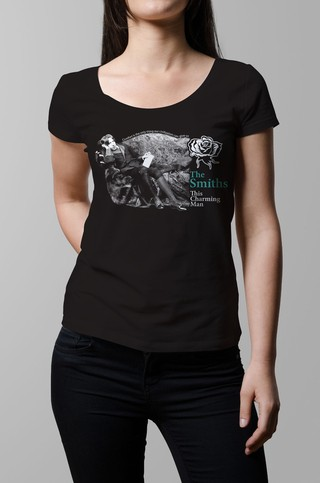 Remera The Smiths this charming man negra mujer