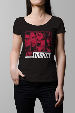 Remera The Strokes negra mujer
