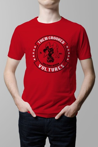 Remera Them Crooked Vultures roja hombre