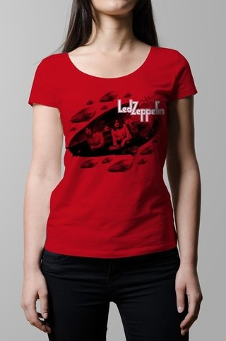 Remera Led Zeppelin roja mujer