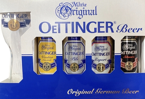 Oettinger Pack 4 latas + vaso