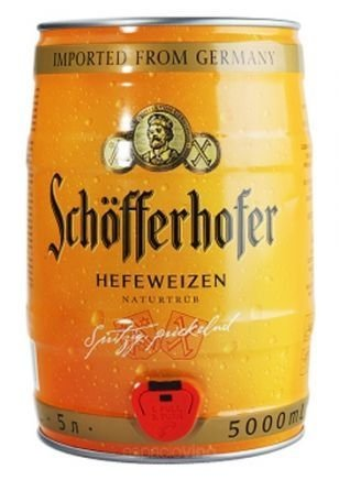 Schöfferhofer Barril x5 lts