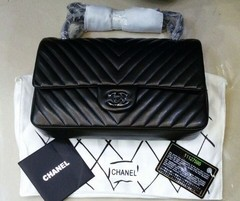 Bolsa Chevron All Black Jumbo - Italiana - loja online