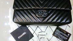 Bolsa Chevron All Black Jumbo - Italiana na internet