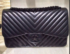 Bolsa Chevron All Black Jumbo - Italiana