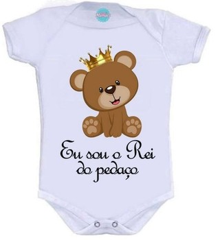 Body Infantil -  O Rei Do Pedaço  Pronta Entrega