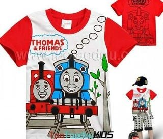 Camiseta Infantil Thomas & Friends.Pronta Entrega