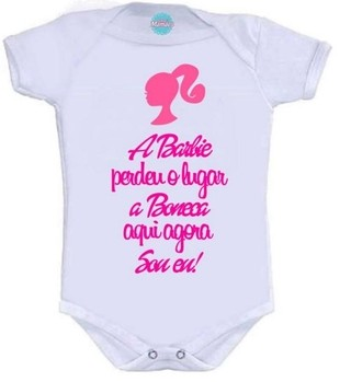 Body Infantil - Barbie Pronta Entrega