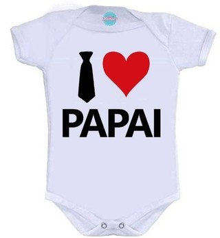 Body Infantil - I love Papai