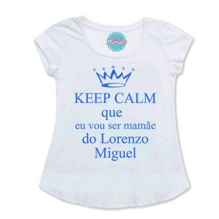Bata Gestante Keep Calm   Pronta Entrega