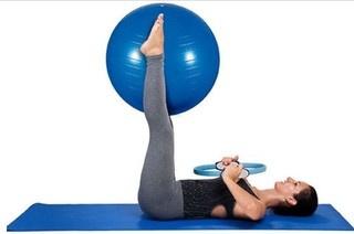 Kit Para Pilates Azul Mor Pronta Entrega