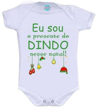 Body Infantil - Presente do Dindo Pronta Entrega