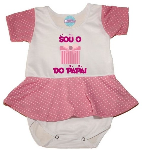 Body com Saia - Presente Do Papai. Pronta Entrega