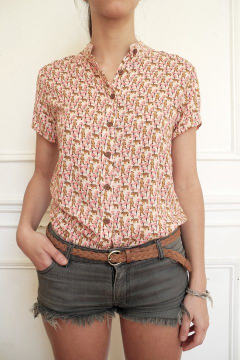 CAMISA LUCKY ROSA