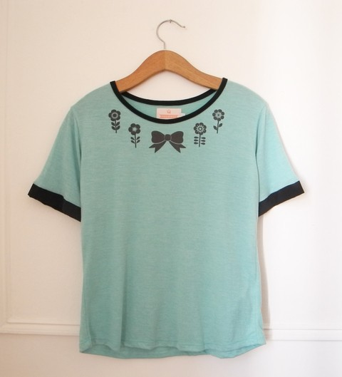 REMERA BUBBLEGUM - CRUDO/ROSA/MENTA - SHOP - VERO FOREST