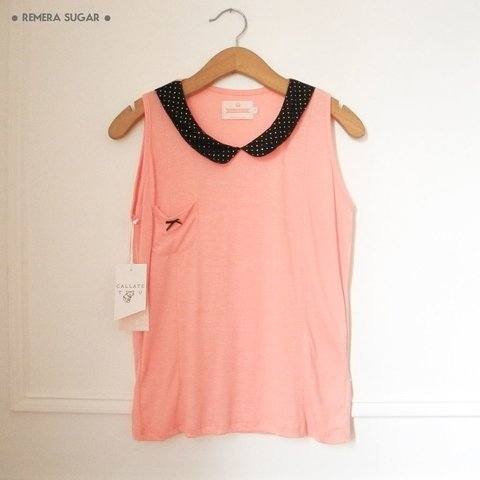 REMERA SUGAR - MENTA/CORAL en internet