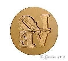 Sello de bronce modelo Love