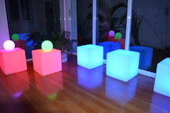 Asiento Alquiler Puff Cubos Led inalámbrico - tienda online