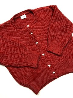 Cardigan Arroz Rojo