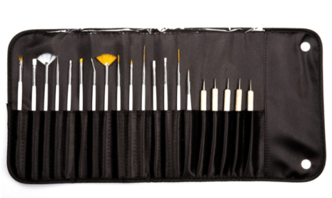 NewFace Brushes® Kit Nail 20 Brushes - KN20