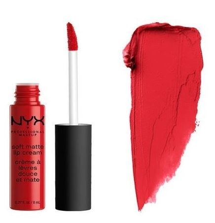 NYX  COSMETICS - SOFT MATTE CREAM - AMSTERDAM - PURE RED  (super desconto de 25%)