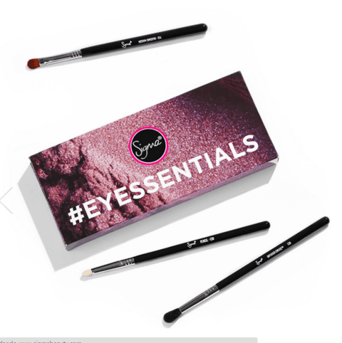 SIGMA® - EYESSENTIALS COM 3 BRUSHES  (super desconto de 30%)
