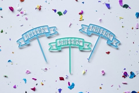 MINI cake toppers: Banderines - comprar online