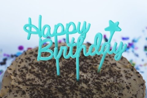 BIG cake toppers: Happy Birthday + estrella