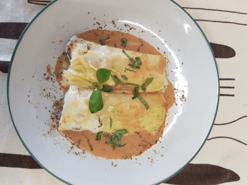 Canelones de Verdura con Salsa Filetto
