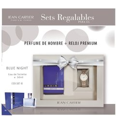 SET REGALABLE BLUE NIGHT + RELOJ DE HOMBRE