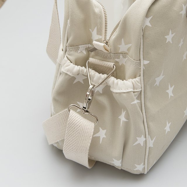 Maternity Bag, pearl grey with white stars - online store