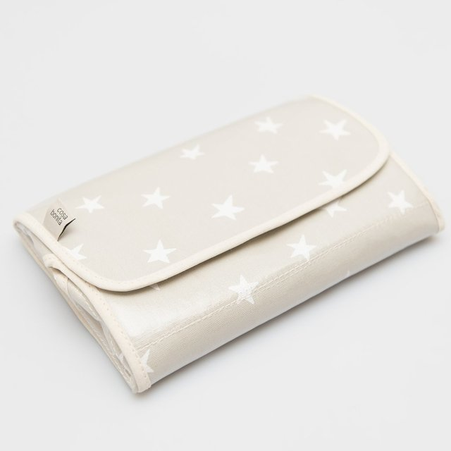 Portable Changing Mat, pearl grey with white stars - buy online