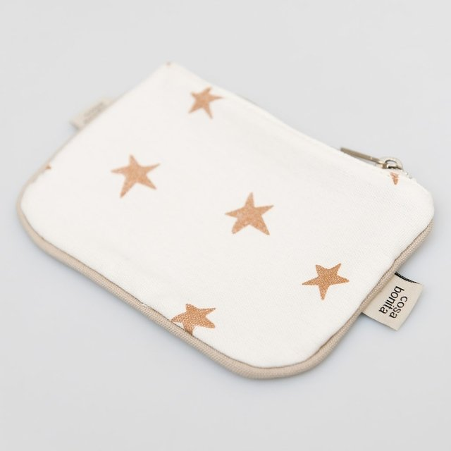 Susques Purse, ecru with cooper stars - buy online