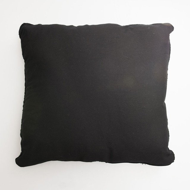 Tall Hong Kong Cushion, dark grey cable stitch - buy online