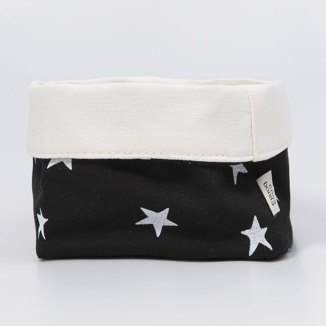 Small Basket, black with white stars   - buy online