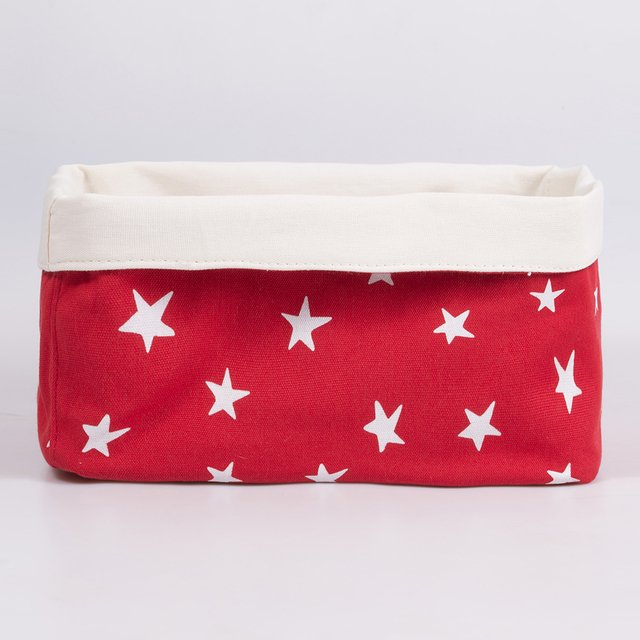 Medium Basket, red with white stars   - buy online