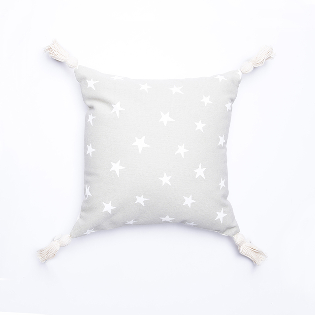 Cafayate Cushion, pearl grey with white stars