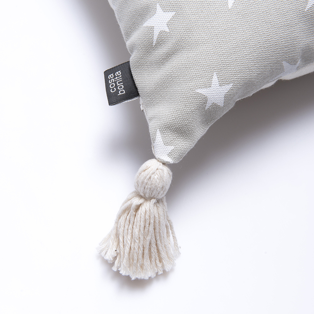 Cafayate Cushion, pearl grey with white stars - Cosa Bonita