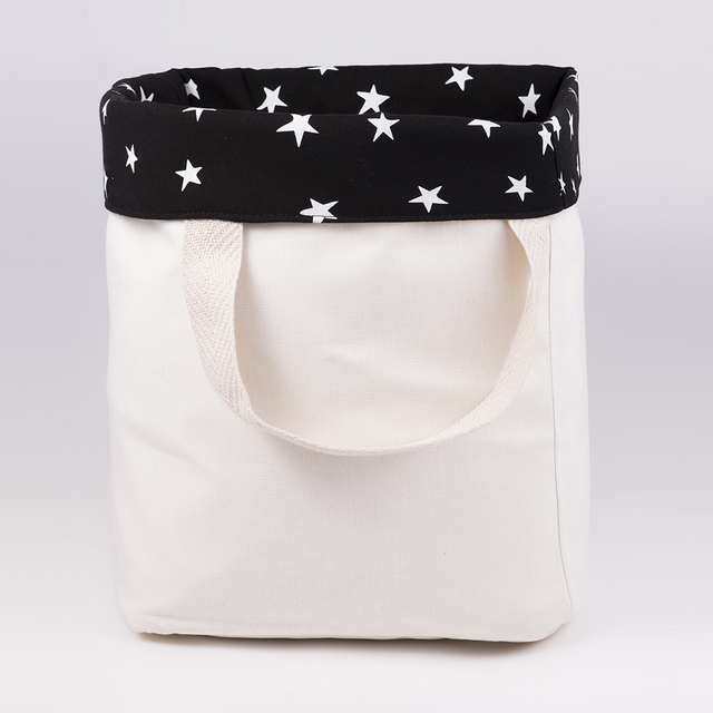 Tall Basket, black with white stars   on internet