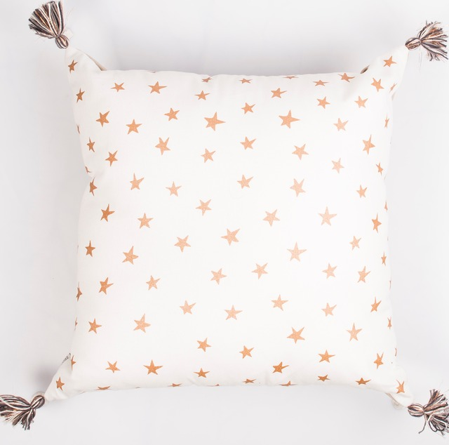 Humahuaca Cushion, ecru with cooper stars