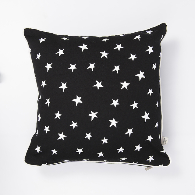 Iruya Cushion, black with white stars