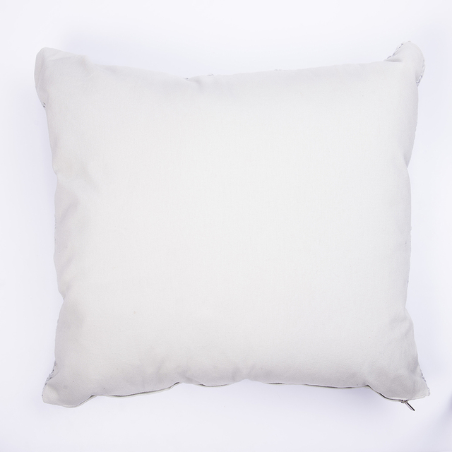 Tall Hong Kong Cushion, pearl grey cable stitch - buy online