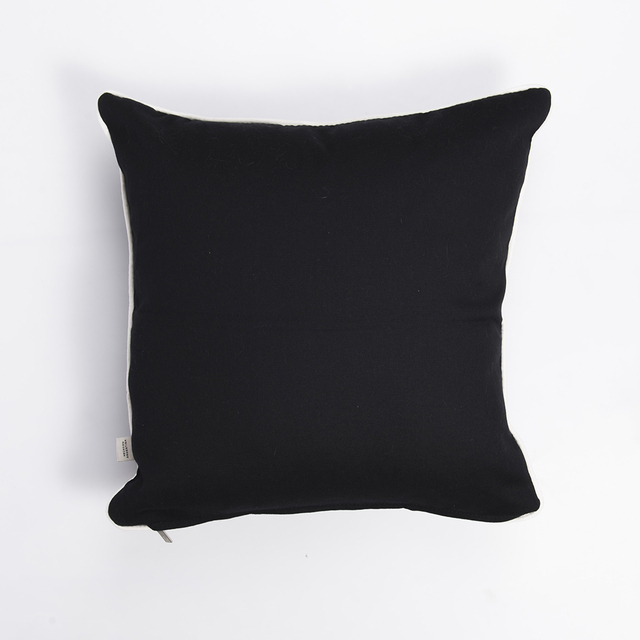 Iruya Cushion, black with white stars - buy online