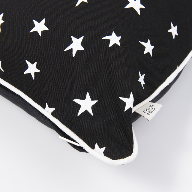 Iruya Cushion, black with white stars on internet