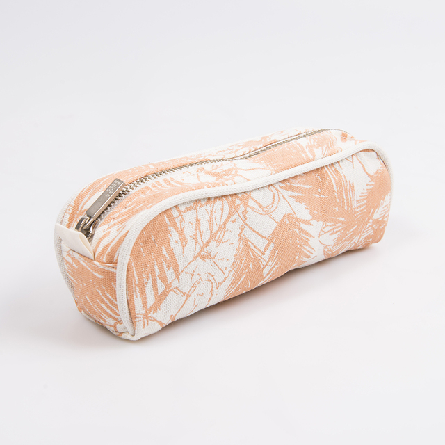 Angastaco Pencil case, ecru with salmon palm trees - buy online