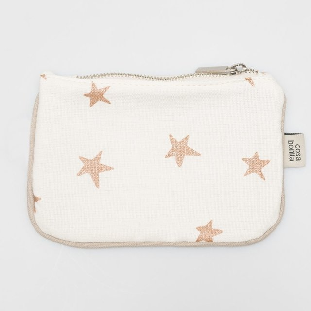 Susques Purse, ecru with cooper stars