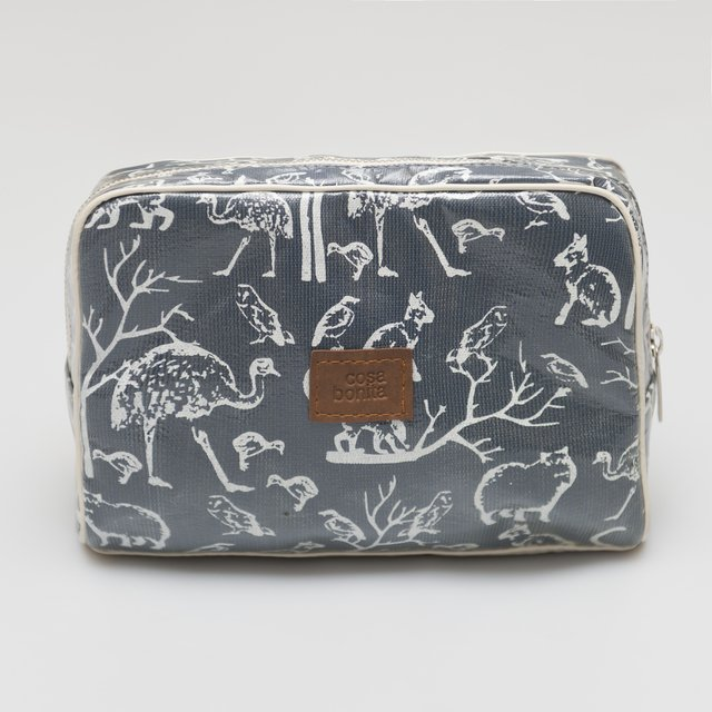 Necessaire Topacio, azul animales blancos on internet