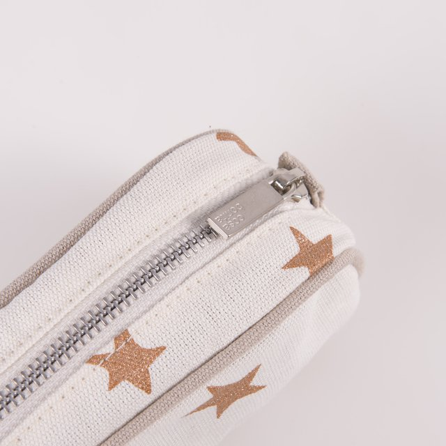 Angastaco Pencil case, blue with cooper stars on internet