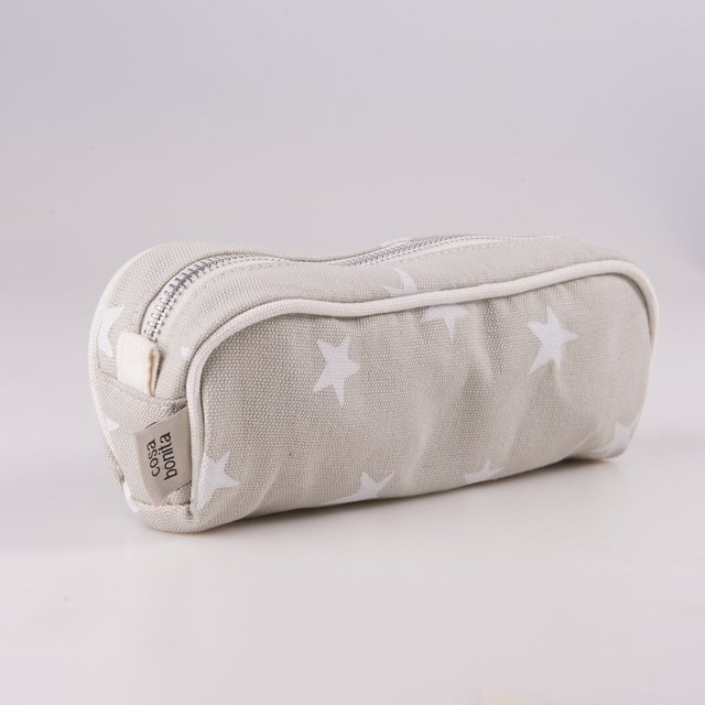 Angastaco Pencil case, blue with cooper stars